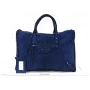 Balenciaga(발렌시아가) 110506 블루 스웨이드 위켄더 토트백+보조거울 [강남본점]