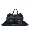 Chanel(샤넬) A37612Y04624 블랙 캐비어스킨 투포켓 은장 빈티지 장식 토트백 [동대문점]