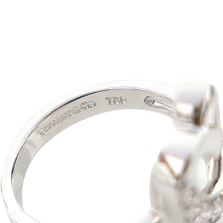 Tiffany(티파니) 18K 화이트 골드 파로마 피카소 러빙 하트 10포인트 다이아 반지-10호