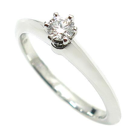 Tiffany(티파니) PT950(플래티늄) 1포인트 다이아 웨딩 반지-13호 이미지2 - 고이비토 중고명품