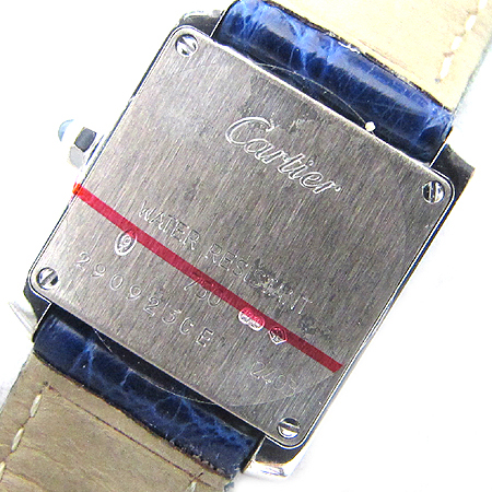 Cartier(까르띠에) W5001256 18K 금통 TANK FRANCAISE(탱크 프랑세스) 가죽 밴드 여성용 시계