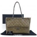 Chanel(샤넬) 클래식 플랩 포켓 장식 퀼팅 레더 빈티지 체인 쇼퍼 숄더백 [부산센텀본점]