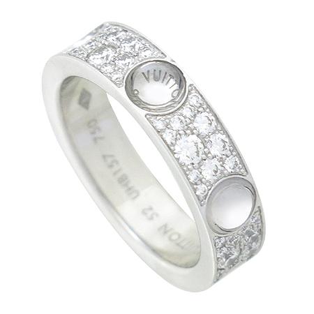 Louis Vuitton(루이비통) Q9A01F 앙프렝트 링 18K 화이트 골드 페이브 다이아몬드 반지 [강남본점] 이미지3 - 고이비토 중고명품