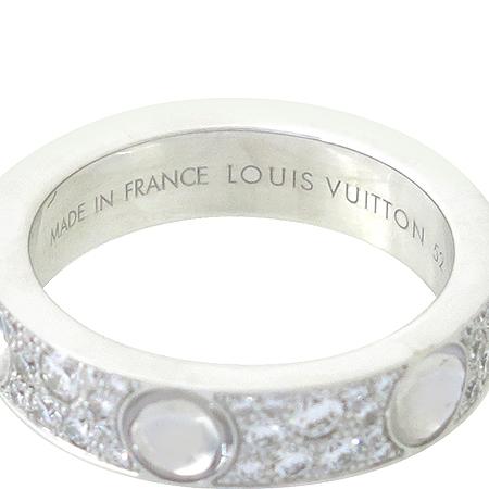 Louis Vuitton(루이비통) Q9A01F 앙프렝트 링 18K 화이트 골드 페이브 다이아몬드 반지 [강남본점] 이미지4 - 고이비토 중고명품