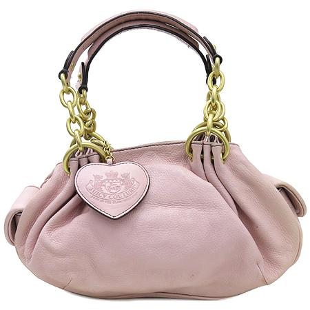 JUICY COUTURE(쥬시꾸띄르) 금장 체인 장식 핑크 래더 토트백+하트 보조 거울 [강남본점]