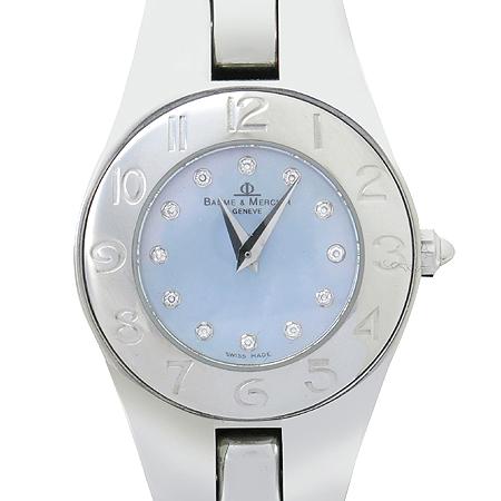 Baume&Mercier(보메메르시에) RIVIERA (리비에라) 12포인트 다이아 자개판 스틸 여성용 시계 [강남본점]