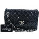 Chanel(샤넬) 크루즈컬렉션 클래식 블랙 램스킨 페이던트 은장 체인 바겟 숄더백 [강남본점]