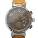 Louis Vuitton(루이비통) Q1122 땅부르 크로노 오토매틱 엘리게이터 밴드 남성용 시계[광주1]