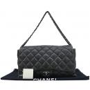 Chanel(샤넬) 브라운 레더 COCO 로고 퀄팅 3포켓 은장 체인 숄더백  [대구반월당본점]