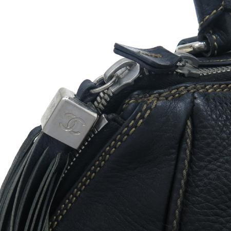 Chanel(샤넬) 블랙 레더 테슬 장식 토트 겸 숄더백 [부산본점]