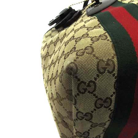 Gucci(구찌) 211970 GG 로고 자가드 삼색 스티치 참 장식 쇼퍼 숄더백 [인천점]