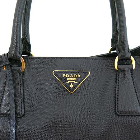 Prada(프라다) BN1844 블랙 사피아노 럭스 금장 로고 토트백[인천점]