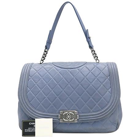 Chanel(샤넬) 퀼팅 램스킨 보이 빈티지 체인 토트백 [강남본점]