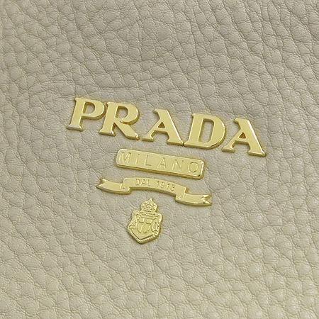 Prada(프라다) BR4712 VIT.DAINO SABBIA 베이지레더 스티치 핸들 금장로고 숄더백 [강남본점] 이미지4 - 고이비토 중고명품