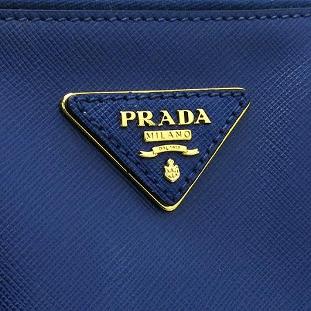 Prada(프라다) BN1786 SAFFIANO LUX NERO 사피아노 럭스 블루 금장로고 토트백 [대구반월당본점] 이미지4 - 고이비토 중고명품