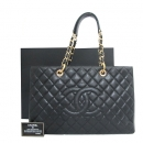 Chanel(샤넬) A66865Y01864 캐비어스킨 블랙 그랜드샤핑 L사이즈 금장로고 체인 숄더백 [인천점]