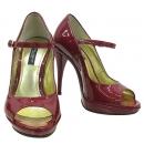 D&G(돌체&가바나) 레더 페이던트 오픈토 하이힐 여성용 구두 [부산센텀본점]
