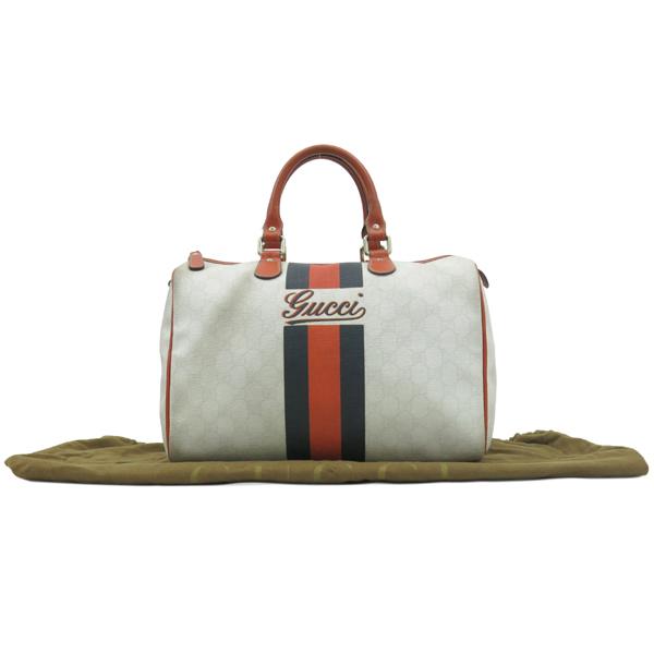 Gucci(구찌) 189895 삼색 스티치 GG 로고 PVC 보스톤 토트백