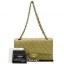 Chanel(샤넬) 베이지 컬러 램스킨 클래식 M사이즈 금장 체인 숄더백  [대구동성로점]