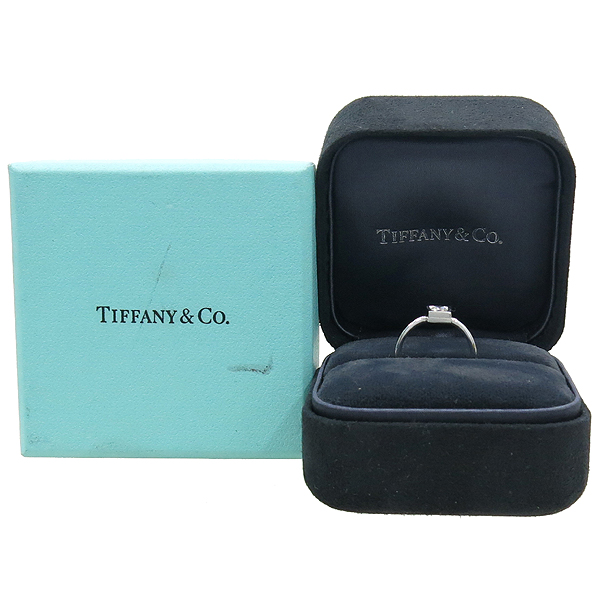 Tiffany(티파니) 18K 화이트골드 1포인트 다이아 Frank Gehry Torque 반지 - 8호 [강남본점]