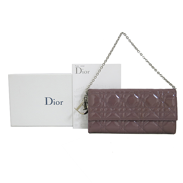 Dior(크리스챤디올) 레이디 디올 페이던트 퀄팅 까나쥬 장지갑 [동대문점]
