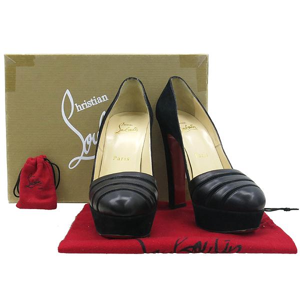 Christian Louboutin (크리스찬 루부탱) 블랙 스웨이드 가보시 여성용 구두 [부산센텀본점]