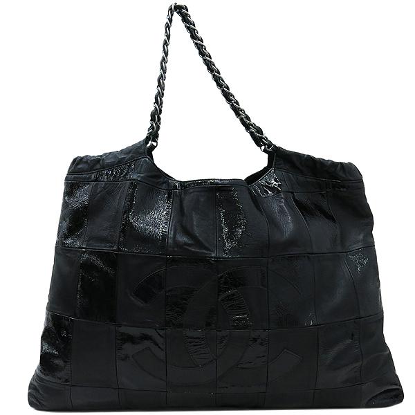 Chanel(샤넬) 크루즈컬렉션 카바스 블랙 레더 은장 체인 숄더백 [부산센텀본점] 이미지2 - 고이비토 중고명품