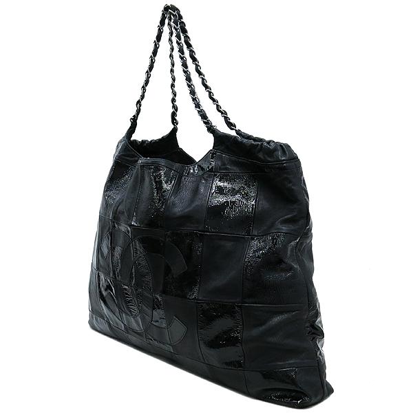 Chanel(샤넬) 크루즈컬렉션 카바스 블랙 레더 은장 체인 숄더백 [부산센텀본점] 이미지3 - 고이비토 중고명품