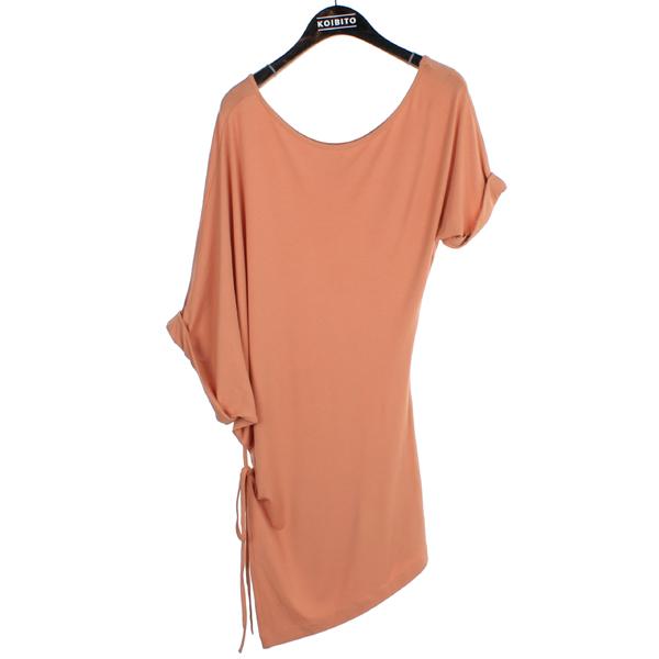 MARTIN MARGIELA (마틴 마르지엘라) 다크 핑크 비대칭 여성용 티셔츠 [부산센텀본점]