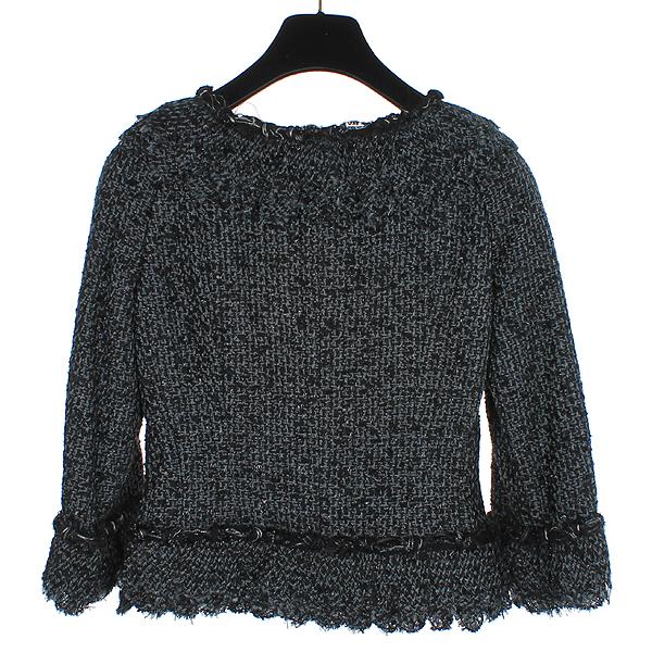 Chanel(샤넬) 크루즈컬렉션 COCO로고 블랙 트위드 여성 자켓 [동대문점] 이미지5 - 고이비토 중고명품