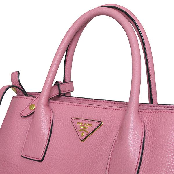 Prada(프라다) BN2693 금장 삼각 로고 VIT.DAINO 핑크 레더 토트백 + 숄더스트랩 [인천점] 이미지3 - 고이비토 중고명품