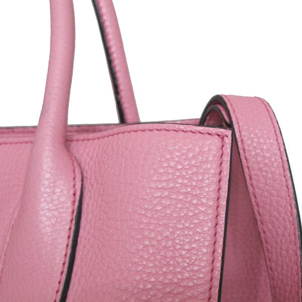Prada(프라다) BN2693 금장 삼각 로고 VIT.DAINO 핑크 레더 토트백 + 숄더스트랩 [인천점] 이미지4 - 고이비토 중고명품