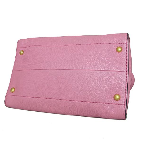 Prada(프라다) BN2693 금장 삼각 로고 VIT.DAINO 핑크 레더 토트백 + 숄더스트랩 [인천점] 이미지5 - 고이비토 중고명품
