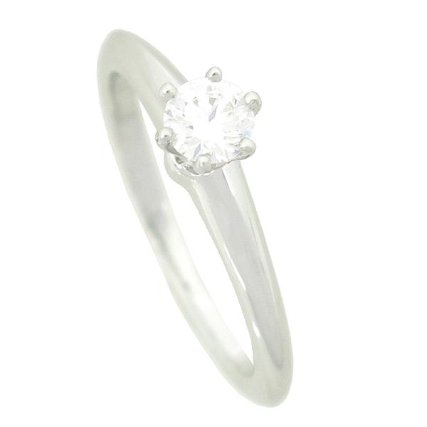 Tiffany(티파니) PT950 (플래티늄) 0.21 캐럿 다이아 웨딩 반지 - 8 호 / 티파니 정식매장 사이즈 조절가능 [강남본점] 이미지2 - 고이비토 중고명품