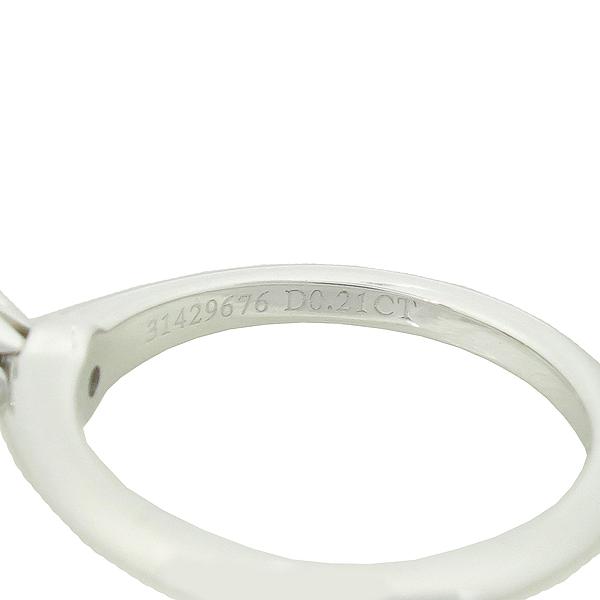 Tiffany(티파니) PT950 (플래티늄) 0.21 캐럿 다이아 웨딩 반지 - 8 호 / 티파니 정식매장 사이즈 조절가능 [강남본점] 이미지4 - 고이비토 중고명품