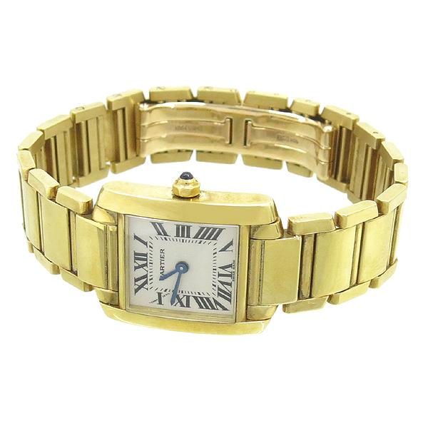 Cartier(까르띠에) W50002N2 18K 금통 탱크 여성용 시계