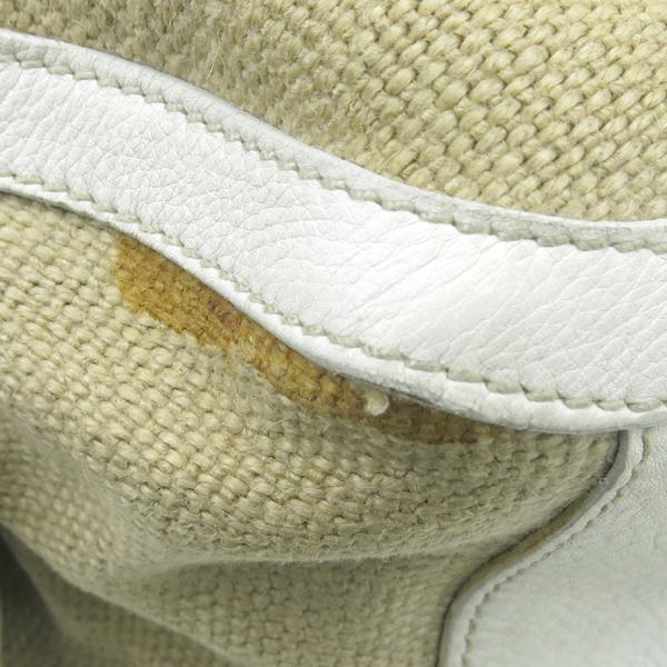 MiuMiu(미우미우) 금장 로고 장식 패브릭 토트백