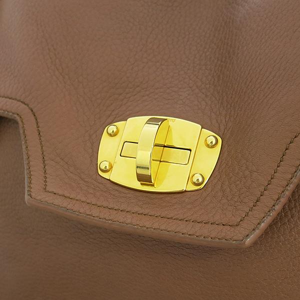 MiuMiu(미우미우) RN0633 브라운 레더 금장 로고 2WAY [강남본점] 이미지5 - 고이비토 중고명품