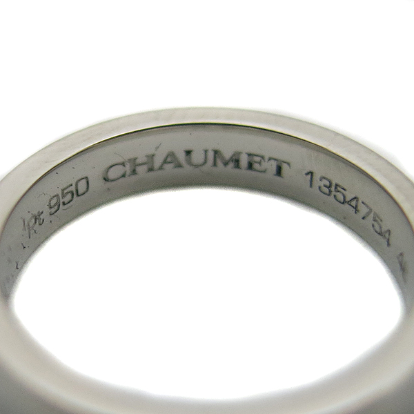 CHAUMET(쇼메) PT950(플래티늄) 플룸 인사이드 1포인트 다이아 반지-8호 [동대문점] 이미지4 - 고이비토 중고명품