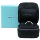 Tiffany(티파니) PT950 플래티늄골드 Tiffany&Co 라운드 로고 브릴리언트 3포인트 다이아 밴드 링 반지 [대구반월당본점]