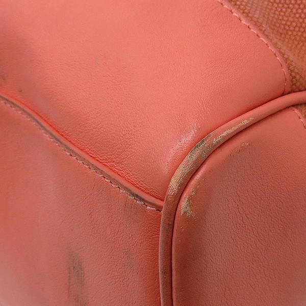 TORY BURCH(토리버치) 금장 로고 장식 삼색 스티치 패브릭 토트백 [강남본점] 이미지5 - 고이비토 중고명품