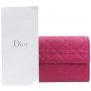 Dior(크리스챤디올) S0336PCAL M00F LADYDIOR 레이디디올 램스킨 핑크 까나쥬 퀼팅 중지갑 [강남본점]