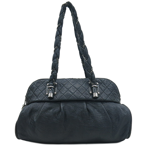 Chanel(샤넬) 블랙 퀼팅 스티치 레더 볼링 체인 숄더백 [부산센텀본점] 이미지2 - 고이비토 중고명품