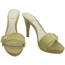 Dior(크리스챤디올) 금장 로고 장식 베이지 페이던트 오픈토 여성용 하이힐 샌들 [강남본점]
