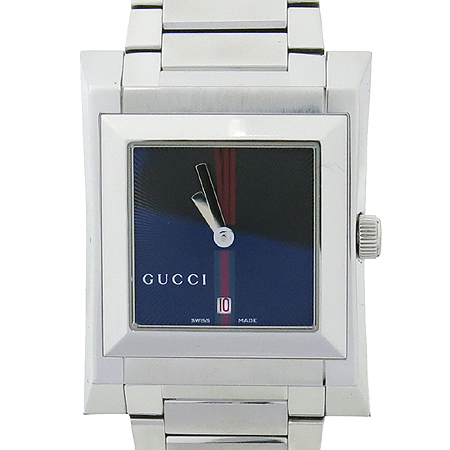 Gucci(구찌) YA111402 111J 삼색 스티치 스퀘어 스틸 브레이슬릿 남성용 시계 [부산본점]