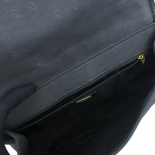 Aigner(아이그너) 금장 로고 장식 스퀘어 백팩 이미지7 - 고이비토 중고명품