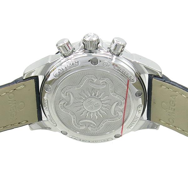 Omega(오메가) 422.18.35.50.05.001 DE ville (드빌) CO AXIAL 베젤 다이아 자개 크로노그래프 오토매틱 여성용 가죽밴드 시계 [강남본점] 이미지5 - 고이비토 중고명품