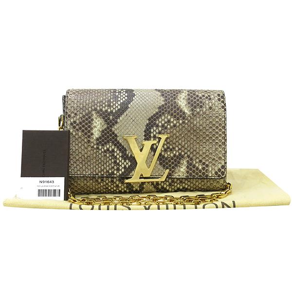 Louis Vuitton(루이비통) N91643 파이톤 레더 루이즈 금장 체인 크로스백 [대구동성로점]