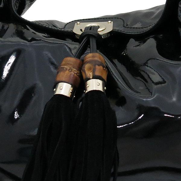 Gucci(구찌) 177088 블랙 페이던트 인디 뱀부핸들 토트백 + 숄더 스트랩 2WAY [대전갤러리아점] 이미지4 - 고이비토 중고명품