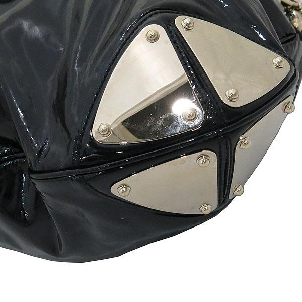 Gucci(구찌) 177088 블랙 페이던트 인디 뱀부핸들 토트백 + 숄더 스트랩 2WAY [대전갤러리아점] 이미지5 - 고이비토 중고명품